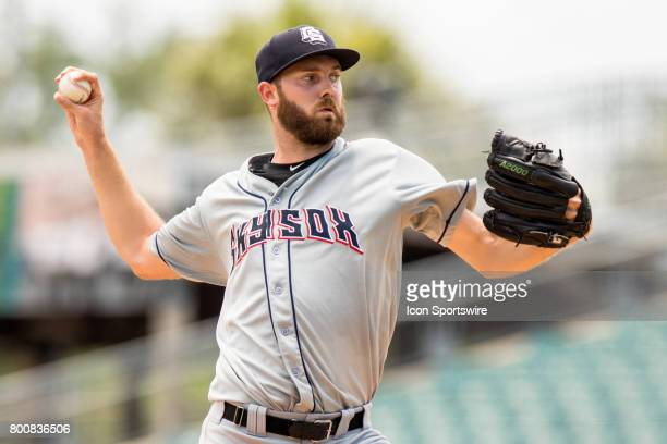 Sky Sox pitcher Taylor Jungmann delivers a pitch in the third inning of the minor league game between the Colorado Springs Sky Sox and the New...