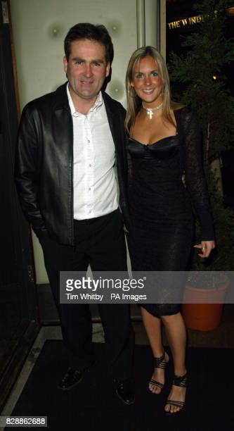 Sky Sports presenter Richard Keys arrives for the launch party of Shane Richie's book 'Rags To Richie' at Noble Rot in west London