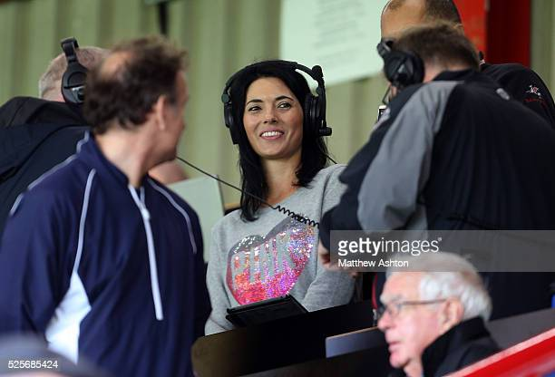 Sky Sports television presenter and Brentford fan Natalie Sawyer attends the match