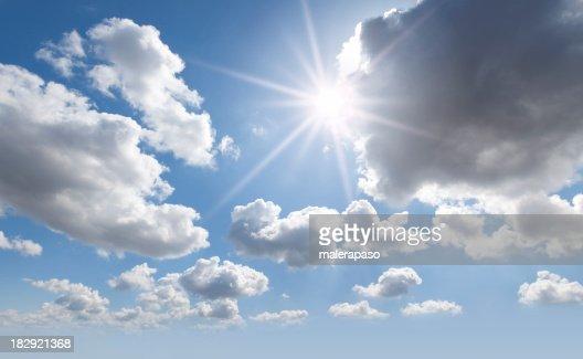Sky. Sun in the clouds.