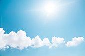 Cloudy sky with sun
