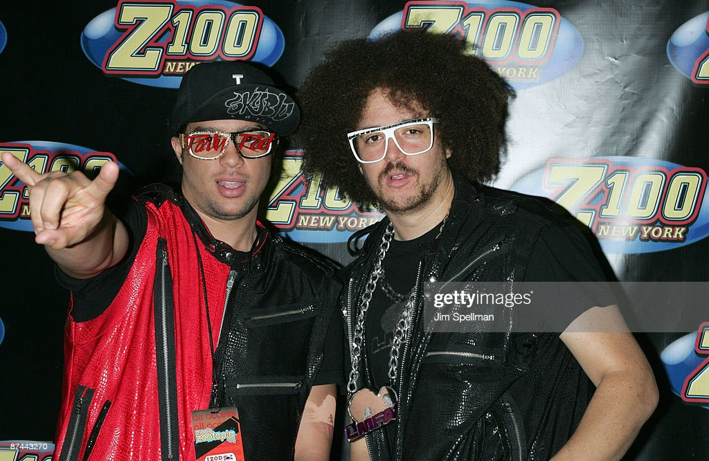 SkyBlu and Red Foo of LMFAO attends the Z100s Zootopia 2009 presented by IZOD Fragrance at Izod Center on May 16 2009 in East Rutherford New Jersey