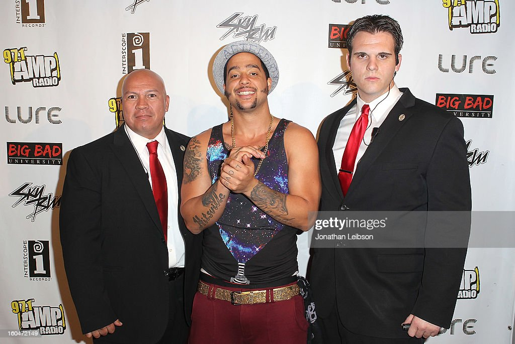 SkyBlu (c) at the SkyBlu 'Pop Bottles' Single Release Party at Lure on January 31, 2013 in Hollywood, California.