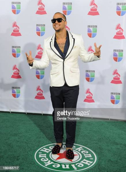 SkyBlu of LMFAO arrives at the 13th annual Latin GRAMMY Awards held at the Mandalay Bay Events Center on November 15 2012 in Las Vegas Nevada