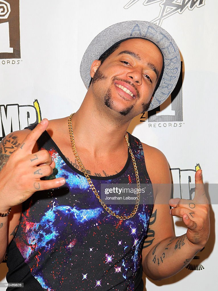 SkyBlu poses at the SkyBlu 'Pop Bottles' Single Release Party at Lure on January 31, 2013 in Hollywood, California.