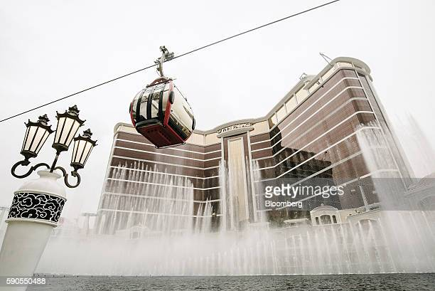 A SkyCab cable car travels past Wynn Resorts Ltd's Wynn Palace casino resort in Macau China on Monday Aug 15 2016 Steve Wynn the 74yearold founder of...