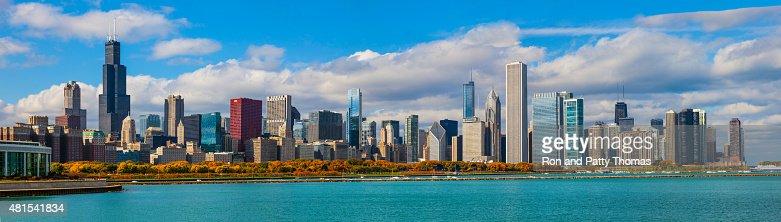 Skycraper of Chicago Skyline Panorama, ILL