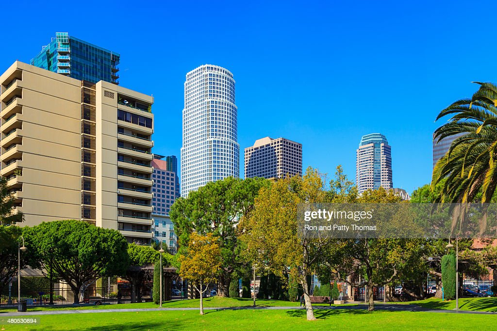 Skycrapers of downtown Los Angeles skyline, CA : Stock Photo