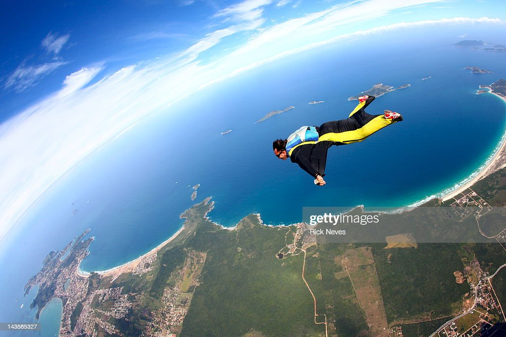 Skydive wing suit : Stock Photo