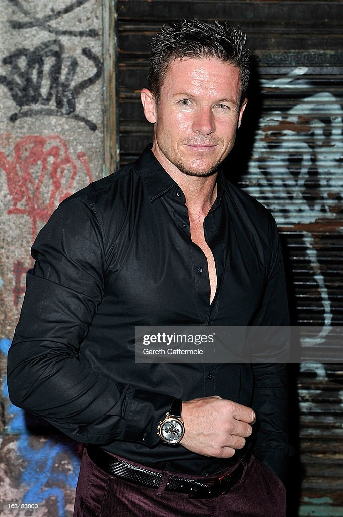 Skydiver <a gi-track='captionPersonalityLinkClicked' href=/galleries/search?phrase=Felix+Baumgartner&family=editorial&specificpeople=787796 ng-click='$event.stopPropagation()'>Felix Baumgartner</a> attends the Laureus Welcome Party at the Rio Scenarium during the 2013 Laureus World Sports Awards on March 10, 2013 in Rio de Janeiro, Brazil.