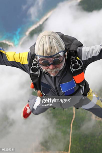 Skydiver in air