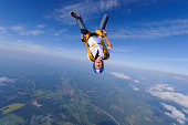 Skydiver in mid-air