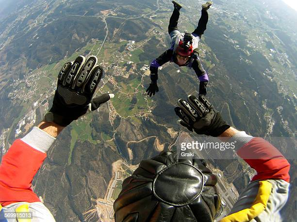 Skydiving POV of Instructor tandem