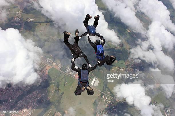 Skydiving team 4 way