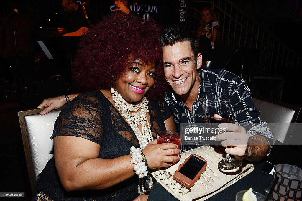 Skye Dee Miles and Jeff Civillico attend Mondays Dark with Mark Shunock charity event benefit for Opportunity Village at Body English at the Hard Rock Hotel on November 18, 2013 in Las Vegas, Nevada.