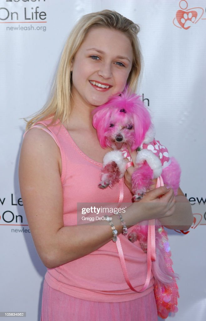 Skye McCole Bartusiak during Nuts for Mutts Celebrity Judged Dog Show at Pierce College in Woodland Hills California United States
