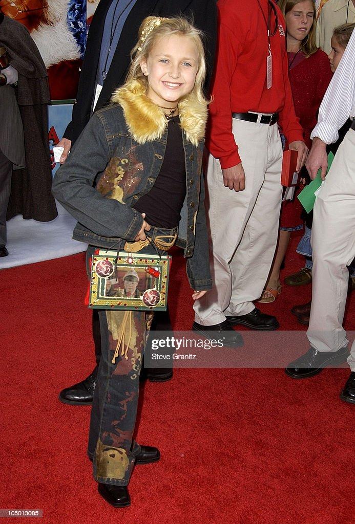 Skye McCole Bartusiak during 'The Santa Clause 2' Premiere at El Capitan Theatre in Hollywood California United States