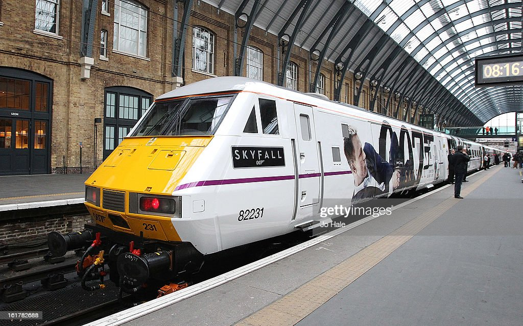 Skyfall 007 Train unveiling at Kings Cross Station on February 16, 2013 in London, England.