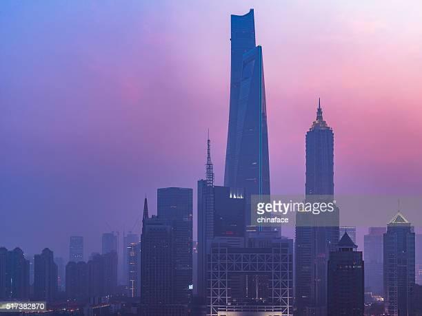 skyine of shanghai china