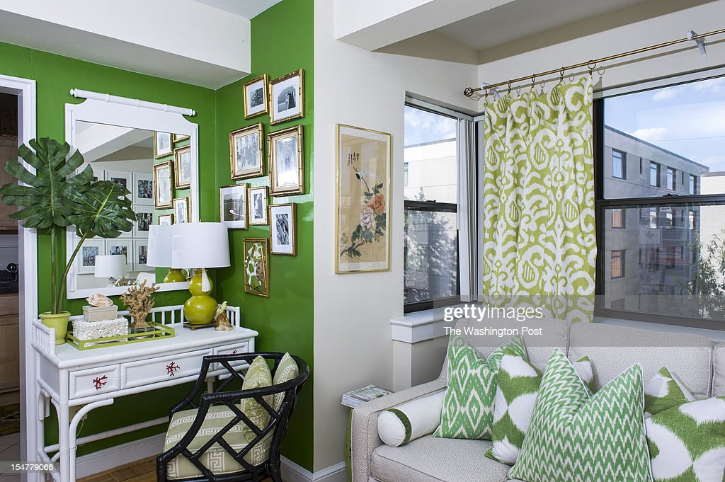 Skyla Freeman's 'office' is next to the living room in her 425 square foot studio apartment that is photographed Wednesday October 10, 2012 in Washington, DC.