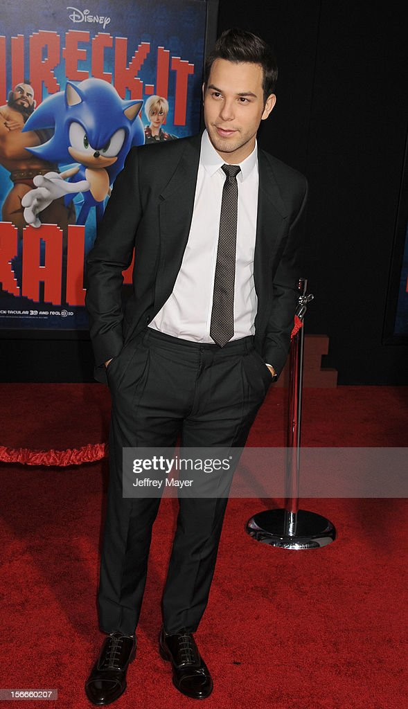 Skylar Astin arrives at the Los Angeles premiere of 'Wreck-It Ralph' at the El Capitan Theatre on October 29, 2012 in Hollywood, California.