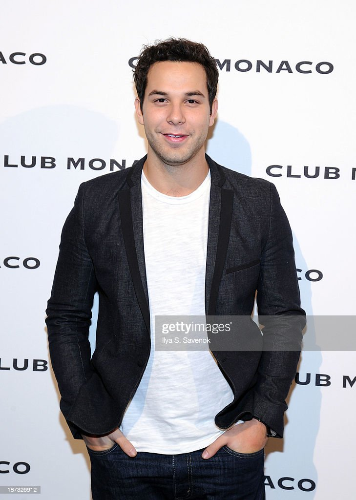 <a gi-track='captionPersonalityLinkClicked' href=/galleries/search?phrase=Skylar+Astin&family=editorial&specificpeople=4463360 ng-click='$event.stopPropagation()'>Skylar Astin</a> attends the opening celebration of Club Monoco's Fifth Avenue Flagship at Club Monaco Fifth Avenue on November 7, 2013 in New York City.