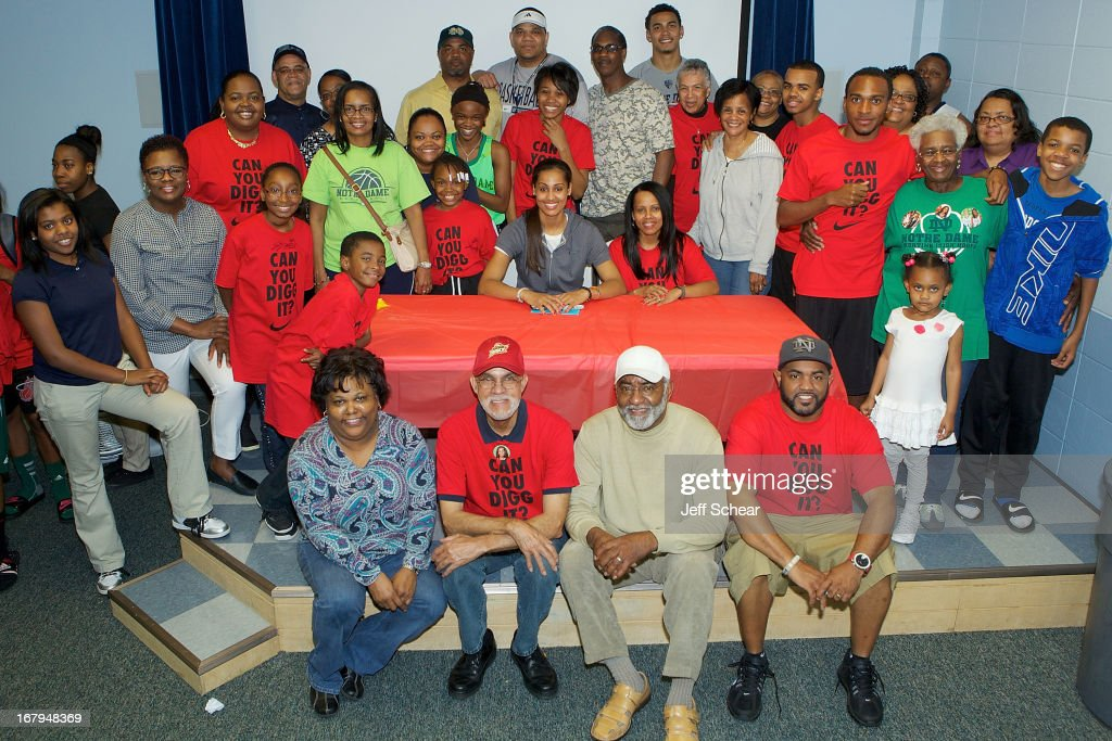 <a gi-track='captionPersonalityLinkClicked' href=/galleries/search?phrase=Skylar+Diggins&family=editorial&specificpeople=5791961 ng-click='$event.stopPropagation()'>Skylar Diggins</a>, friends and family, attend 'The Martin Luther King Center offers congratulations to <a gi-track='captionPersonalityLinkClicked' href=/galleries/search?phrase=Skylar+Diggins&family=editorial&specificpeople=5791961 ng-click='$event.stopPropagation()'>Skylar Diggins</a> as she heads to Oklahoma Tulsa Shock' at Martin Luther King Center Gymnasium on May 2, 2013 in South Bend, Indiana.
