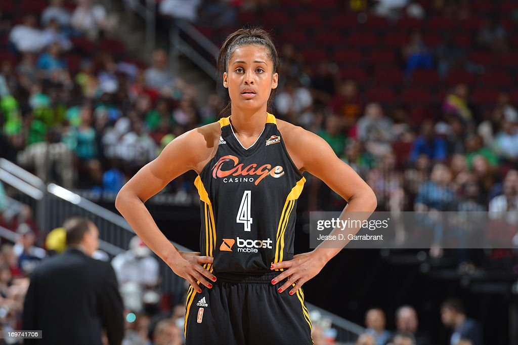 <a gi-track='captionPersonalityLinkClicked' href=/galleries/search?phrase=Skylar+Diggins&family=editorial&specificpeople=5791961 ng-click='$event.stopPropagation()'>Skylar Diggins</a> #4 of the Tulsa Shock looks on during the game against the New York Liberty on May 31, 2013 at Prudential Center in Newark, New Jersey.