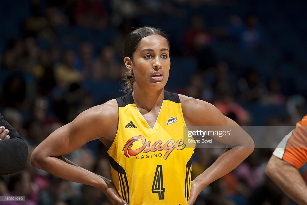 <a gi-track='captionPersonalityLinkClicked' href=/galleries/search?phrase=Skylar+Diggins&family=editorial&specificpeople=5791961 ng-click='$event.stopPropagation()'>Skylar Diggins</a> #4 of the Tulsa Shock looks on during the game against the Chicago Sky on July 27, 2014 at the BOK Center in Tulsa, Oklahoma.
