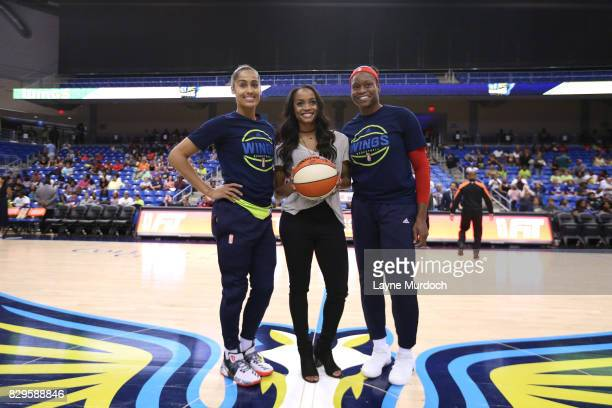 Skylar DigginsSmith and Karima ChristmasKelly of the Dallas Wings pose with Dallas native and latest Bachelorette Rachel Lindsay the guest of honor...