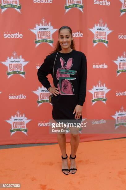 Skylar DigginsSmith of the Dallas Wings poses for a photo during the WNBA AllStar Welcome Reception Presented by Visit Seattle as part of the 2017...