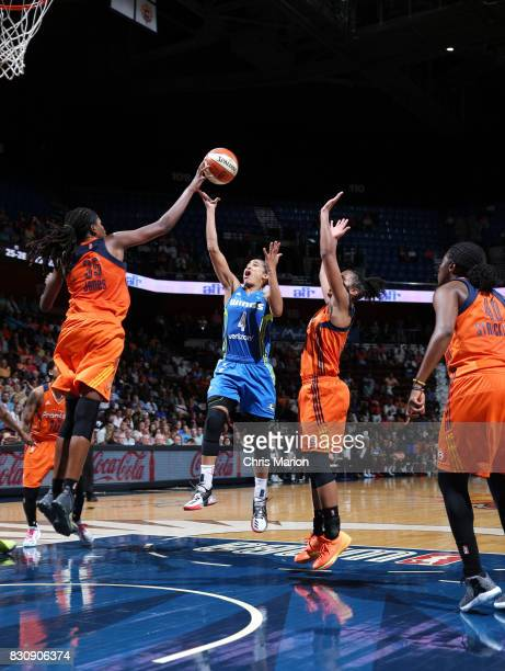 Skylar DigginsSmith of the Dallas Wings shoots the ball against the Connecticut Sun on August 12 2017 at Mohegan Sun Arena in Uncasville CT NOTE TO...