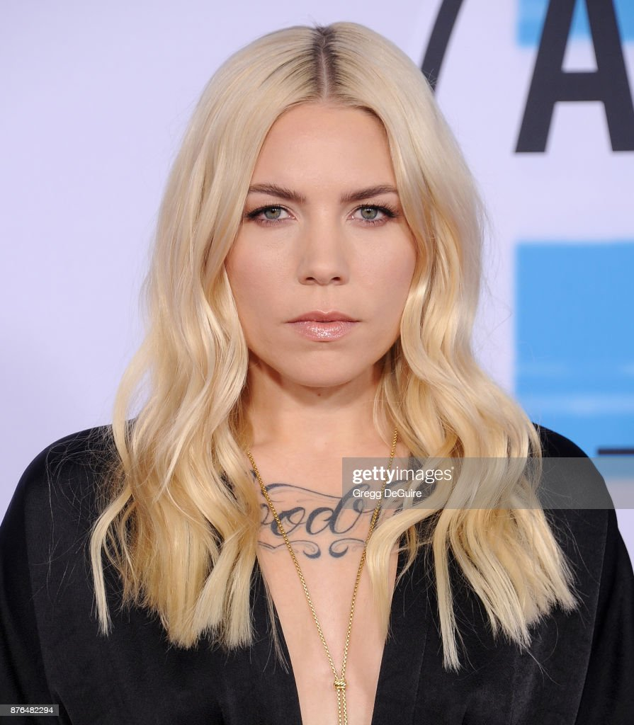 Skylar Grey arrives at the 2017 American Music Awards at Microsoft Theater on November 19, 2017 in Los Angeles, California.