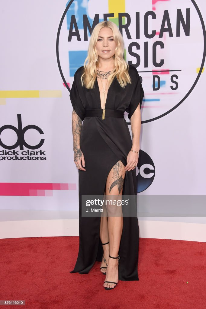 Skylar Grey attends 2017 American Music Awards at Microsoft Theater on November 19, 2017 in Los Angeles, California.