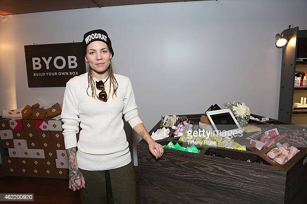 Skylar Grey attends the Birchbox Popup at Park City on January 25 2015 in Park City Utah