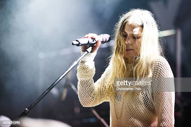 Skylar Grey performs on stage at Bowery Ballroom on October 22 2015 in New York City