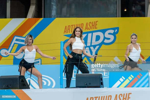 Skylar Stecker performs on stage during the 22nd Annual Arthur Ashe Kids' Day at USTA Billie Jean King National Tennis Center on August 26 2017 in...