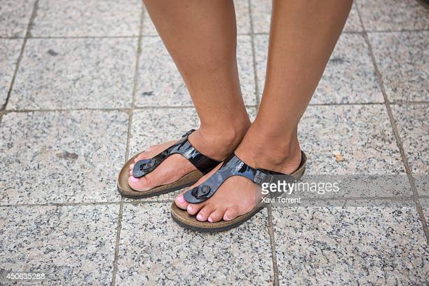 Skyler is wearing sandals from Birkenstock at the Sonar Music Festival on June 14 2014 in Barcelona Spain