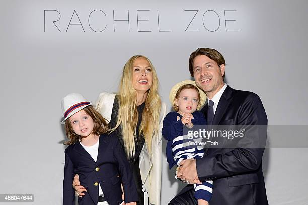 Skyler Rachel Zoe Kai and Rodger Berman attend the Rachel Zoe Presentation Spring 2016 during New York Fashion Week The Shows at The Space Skylight...