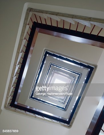 Skylight at the apex of a stairwell : Stock-Foto