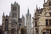 Skyline and architecture of Ghent, Belgium