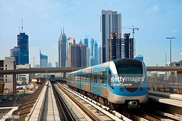 Skyline and Dubai Metro