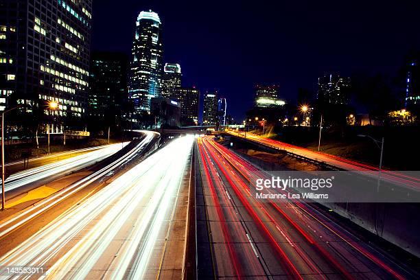 Skyline and highway