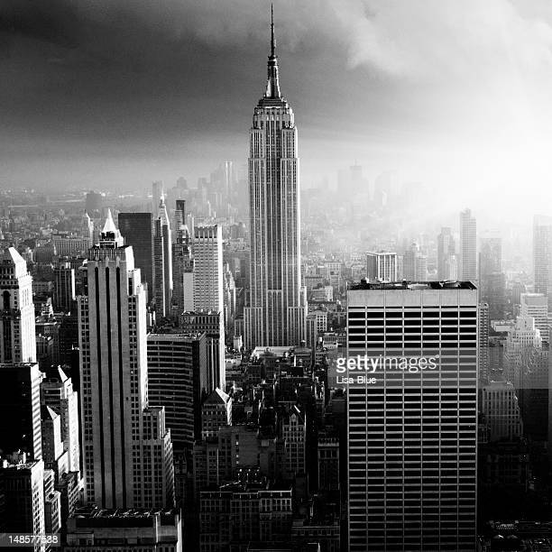 NYC Skyline at Dawn.Black And White