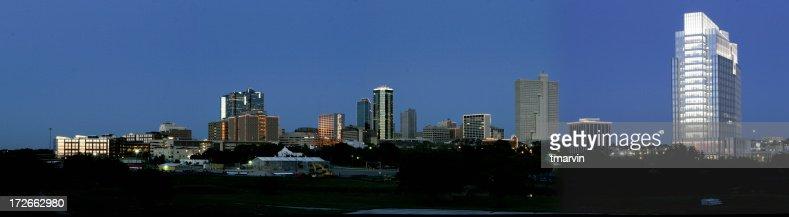 Skyline at dusk