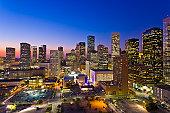 Skyline at night/dusk, Houston, USA