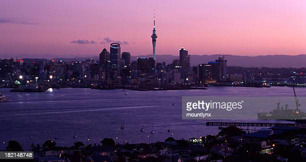 Skyline Auckland at dusk