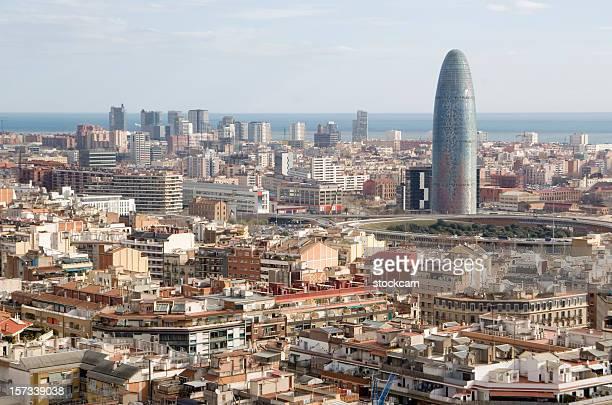 Vista de los edificios de la ciudad de Barcelona España