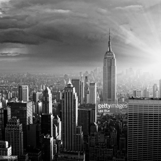 NYC Skyline. Black And White.