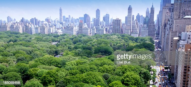 NYC Skyline Central Park Aerial View